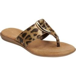 Women's Aerosoles Nice Save Thong Sandal Leopard Metallic Faux Leather