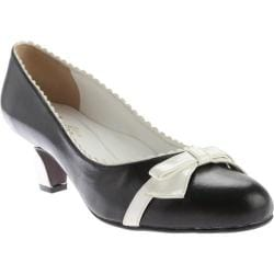 Women's Beacon Shoes Dorothy Pump Black/White Leather