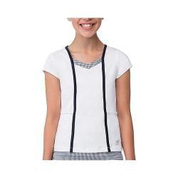 Girls' Fila Gingham Cap Sleeve Top White/Peacoat Gingham/Peacoat