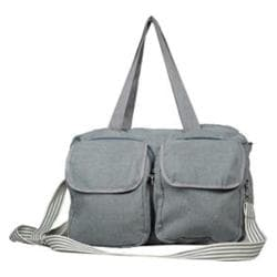 The Sacs Collection Double Pocket Duffle Charcoal