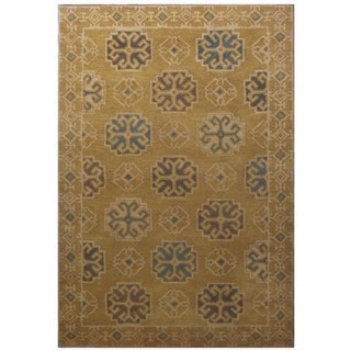 Hand-Tufted Transitional Ochre/Ochre Wool (5x8) Area Rug