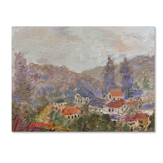 Manor Shadian 'Misty Morning' Canvas Art