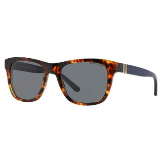 Polo Ralph Lauren Men's PH4090 Plastic Square Polarized Sunglasses