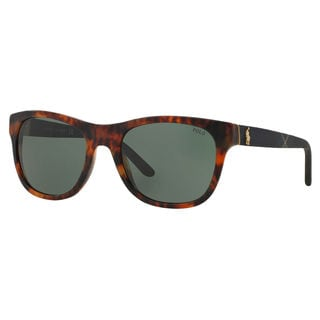 Polo Ralph Lauren Men's PH4091 Plastic Square Sunglasses
