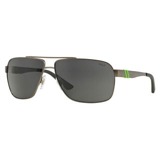 Polo Ralph Lauren Men's PH3088 Metal Rectangle Sunglasses