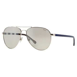 Polo Ralph Lauren Men's PH3090 Metal Pilot Sunglasses