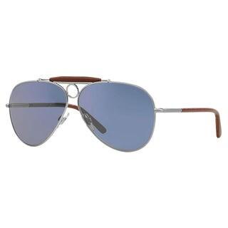 Polo Ralph Lauren Men's PH3091Q Metal Pilot Sunglasses