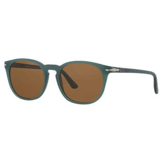 Persol Men's PO3007S Plastic Square Polarized Sunglasses