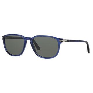 Persol Men's PO3019S Plastic Square Polarized Sunglasses