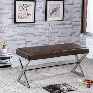 Signature Designs Royal Modern Stainless Steel Bench