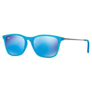 Ray-Ban Junior RJ9061S Blue Plastic Rectangle Sunglasses