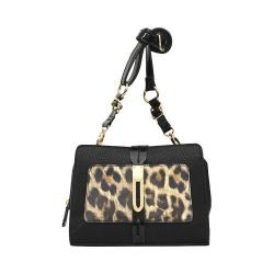 Women's Nicole Miller Marni Cross Body Black/Leopard