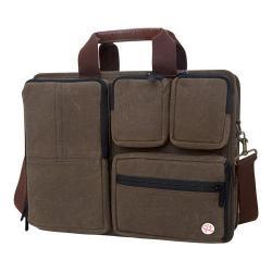 Token Waxed Hewes Briefcase Dark Brown