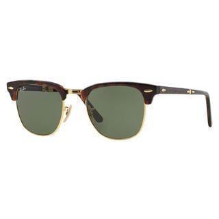 Ray-Ban Women's RB2176 Tortoise Plastic Square Sunglasses