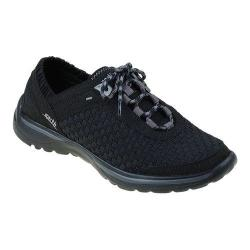 Women's Earth Agile Lace Up Shoe Black Woven Fiber
