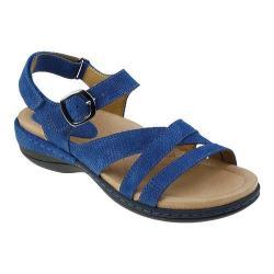 Women's Earth Aster Ankle Strap Sandal Blue Nubuck