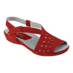 Women's Earthies Razzoli Slingback Bright Red Soft Buck