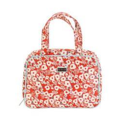 Women's Hadaki by Kalencom Sponge Nylon Makeup Case Pod Berry Blossom Red