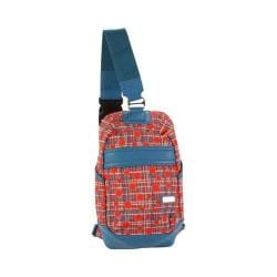 Hadaki by Kalencom Urban Fiery Red Plaid Sling Backpack