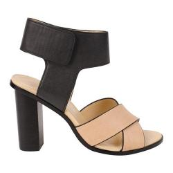 Women's Charles by Charles David Jaunt Sandal Black/Nude Tumbled Leather