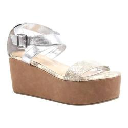 Women's Diba True Outta Site Grey/Off White/Silver Snake/Imi Leather