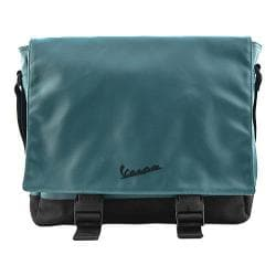 Vespa Vinyl Messenger Bag Aqua