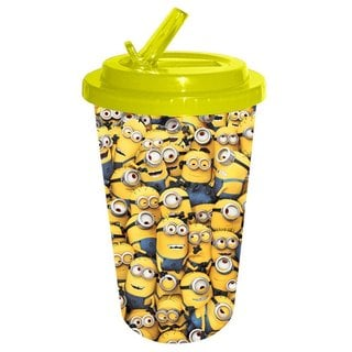 Despicable Me Cluttered Minions Flip-straw Tumbler