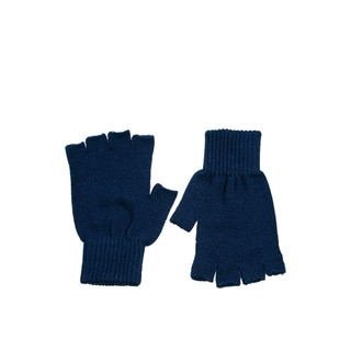 Pair of Navy Blue Fingerless Gloves