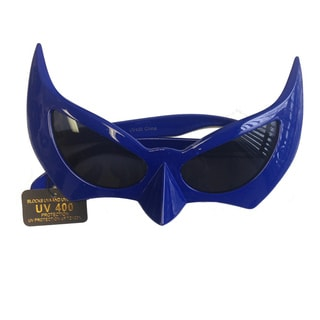 Blue Bat Style Sunglasses