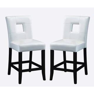 Epcot Cream/ White Upholstered Counter Height Stools (Set of 2)
