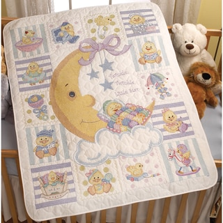 Twinkle Twinkle Little Star Crib Cover Stamped Cross Stitch 34inX43in