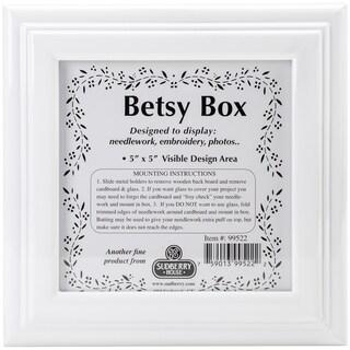 White Betsy Square Box 8inX8inX2.75inDesign Area 5inX5in