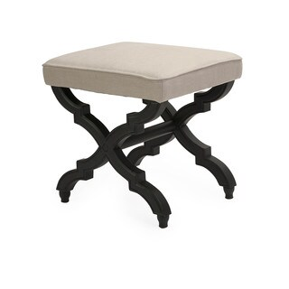 Bauer Black/beige Contemporary Ottoman