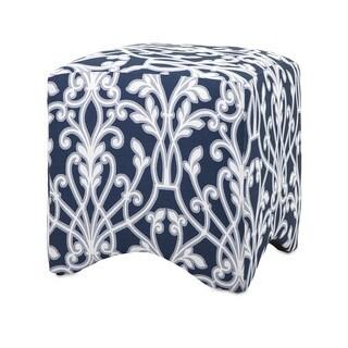 Gillian Blue/white Ottoman