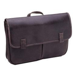 LeDonne Koa Chocolate Distressed Leather Messenger Bag
