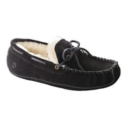 Men's Acorn Sheepskin Moxie Moc Black Suede