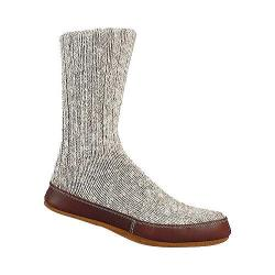 Acorn Slipper Sock Grey Cotton Twist