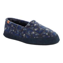 Men's Acorn Moc Navy Woodblock