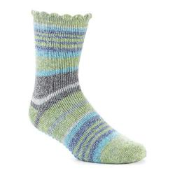 Women's Acorn Toasty Treads No-Slip Slipper Socks (2 pack) Green/Grey