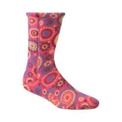 Women's Acorn Versa Fit Socks Pink Dots Fleece