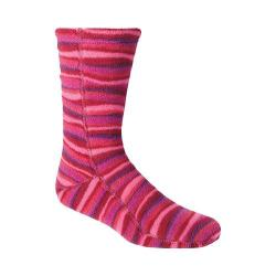 Acorn Versa Fit Socks Wavy Fuchsia Fleece