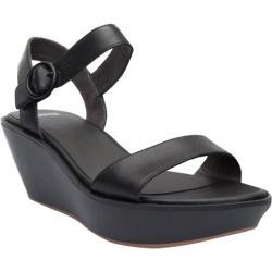 Women's Camper Damas Wedge Sandal Black Leather
