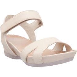 Women's Camper Micro Adjustable Sandal Beige Leather