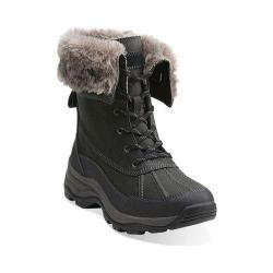 Women's Clarks Arctic Venture Waterproof Boot Black Leather Waterproof