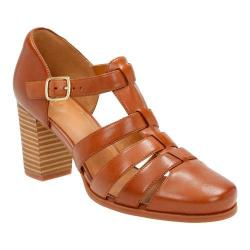 Women's Clarks Ciera Gull T Strap Nutmeg Full Grain Leather