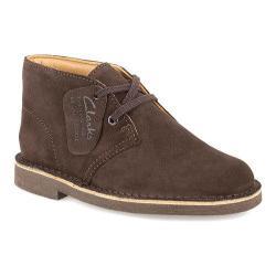 Boys' Clarks Desert Boot Toddler Dark Brown Suede