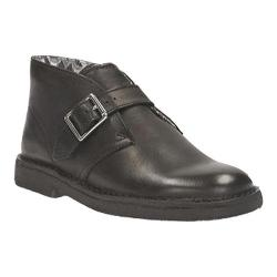 Boys' Clarks Desert Buck Boot Junior Black Leather