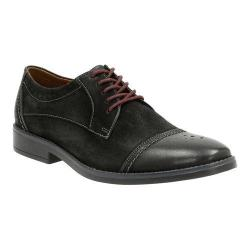 Men's Clarks Garren Cap Toe Brogue Black Full Grain Leather