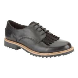 Women's Clarks Griffin Mabel Oxford Black Leather 18374337