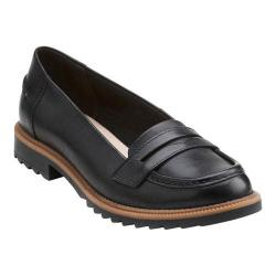 Women's Clarks Griffin Milly Penny Loafer Black Leather